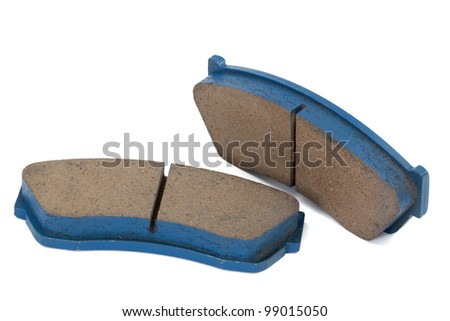 New brake pads disk brake, isolated on a white background