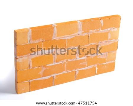 new brickwall with white background - stock photo