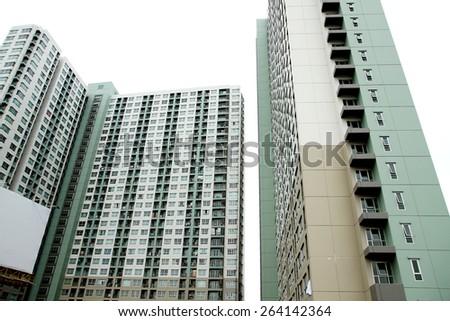 New building condominium - stock photo