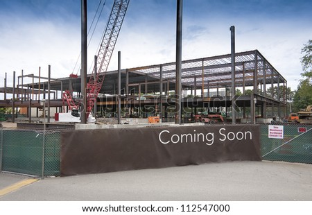 New building construction site - stock photo