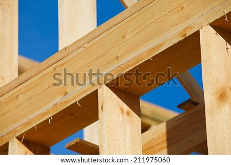 new building under construction - stock photo