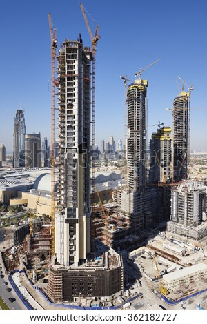 New buildings in Dubai, United Arab Emirates