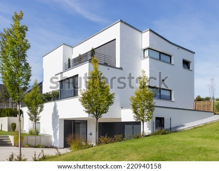 New built house - stock photo
