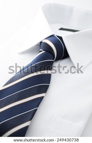 new business shirt and tie - stock photo