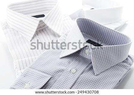 new business shirts on white background - stock photo
