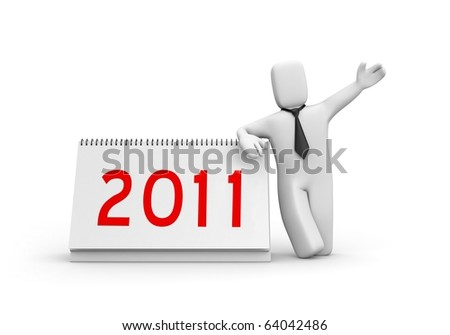 New business year - stock photo