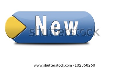 New button or icon latest and newest brand of product availabel now - stock photo