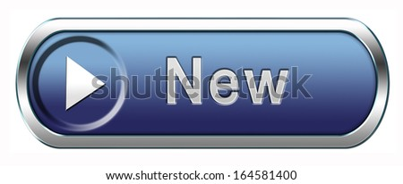 New button or icon newest brand of product availabel now - stock photo