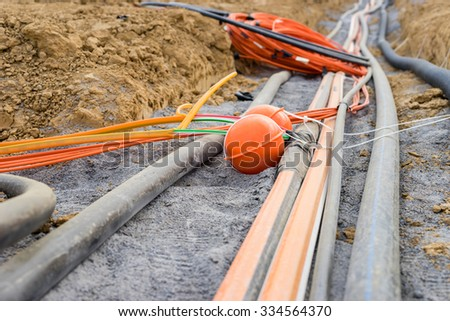 New cables for fast internet - stock photo