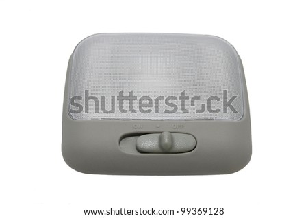 new car auto lamp for cabin on a white background
