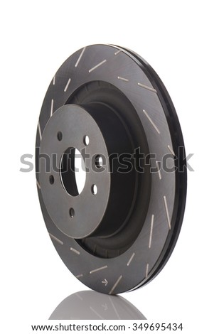 New car brake disk isolated on white background. Clipping path included.