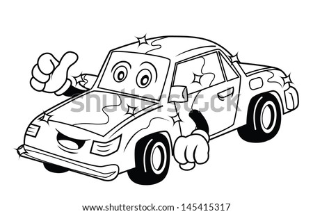 New car cartoon