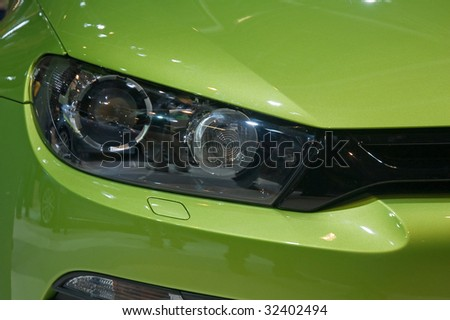 New car detail - headlight