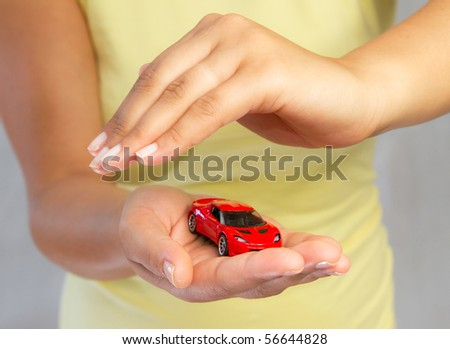 New car protection - stock photo