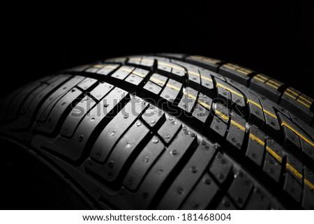 new car tyre - stock photo