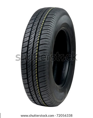 New car tyre - stock photo