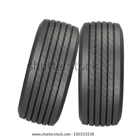 new car tyres - stock photo