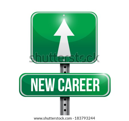 new career signpost illustration design over a white background