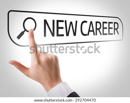 New Career written in search bar on virtual screen - stock photo