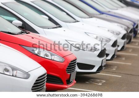 new cars - stock photo