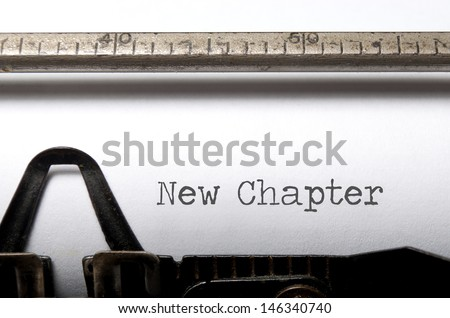 New chapter  - stock photo