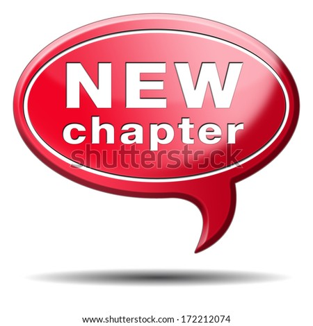 new chapter fresh start over or begin again and have an extra opportunity - stock photo