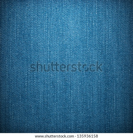 New clean jeans background or texture. - stock photo
