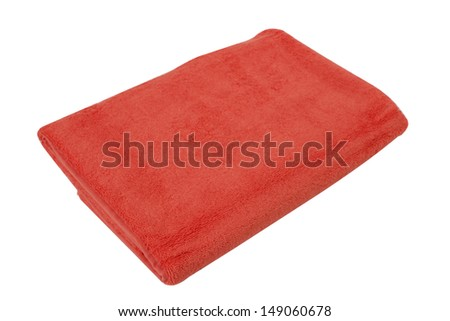 New, clean towel, isolated on a white background