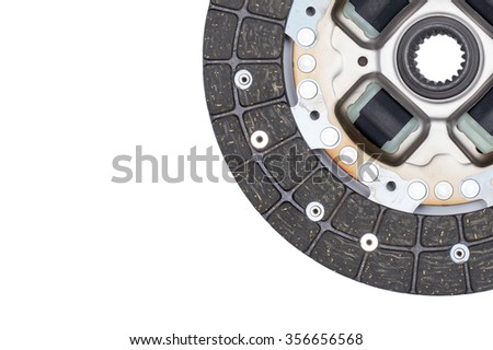 New clutch disc car on a white background