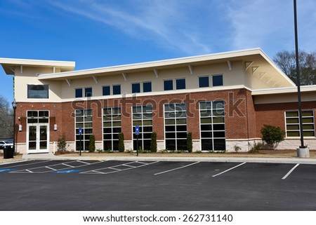 New Commercial Building with Office Space available for sale or lease - stock photo
