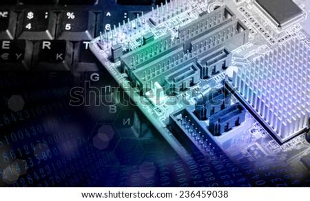 New computer technology.Generation - stock photo