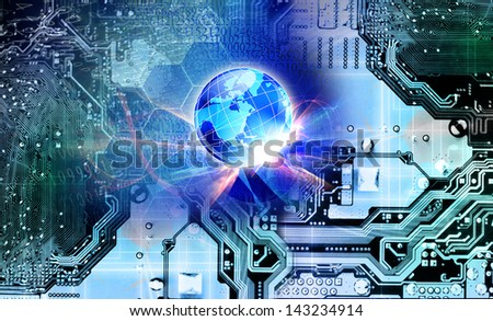New computers technology.Internet - stock photo