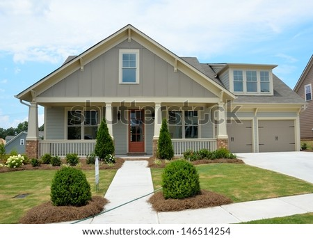 New constructed  home for sale - stock photo