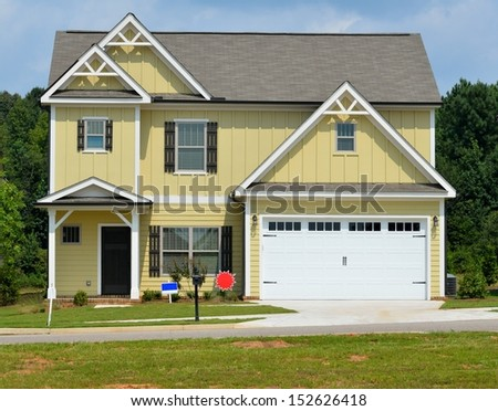 New constructed home for sale at Georgia, USA. - stock photo