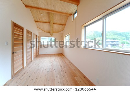 New construction nursery side position -1 that is Woody - stock photo
