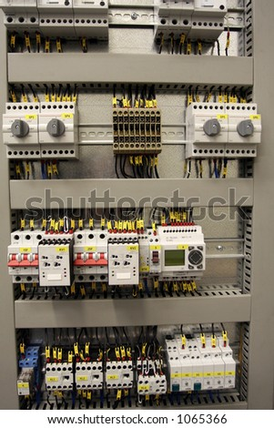 New control panel for medium voltage - stock photo