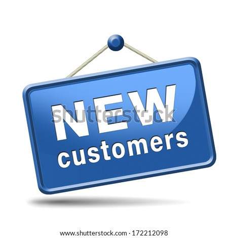 new customers attract buyers increase traffic by product marketing and promotion - stock photo