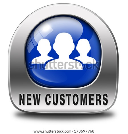 new customers attract buyers increase traffic by product marketing service and promotion study customer base and profile - stock photo