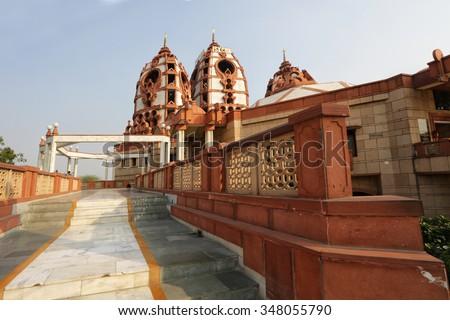 New Delhi, Hare Krishna Temple, India - stock photo