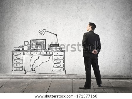 new desk - stock photo