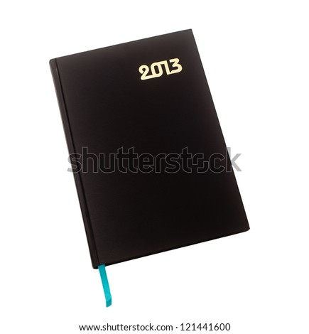 New diary for 2013 on a white background isolated - stock photo
