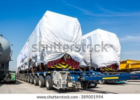 New diesel electric locomotive - stock photo