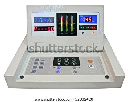 new digital control panel isolated on white background. - stock photo