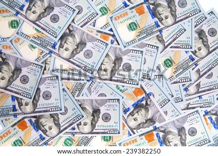 new 100 dollar bill - stock photo