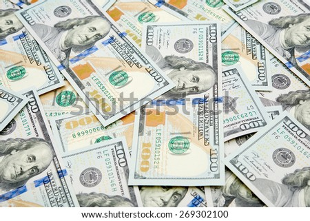 new 100 dollar bills - stock photo