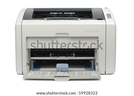 New empty printer isolated on white background with clipping path