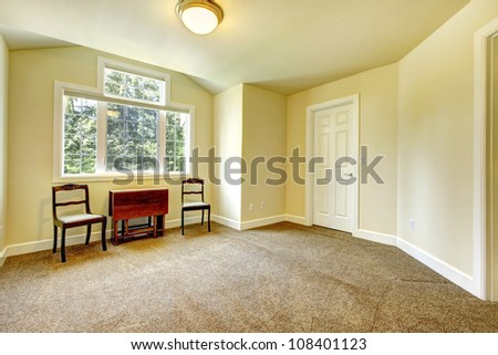 New Empty Room Yellow Walls Brown Stock Photo (Royalty Free ...