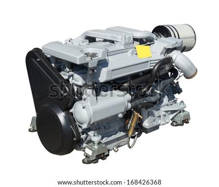 New engine. Isolated over white background - stock photo