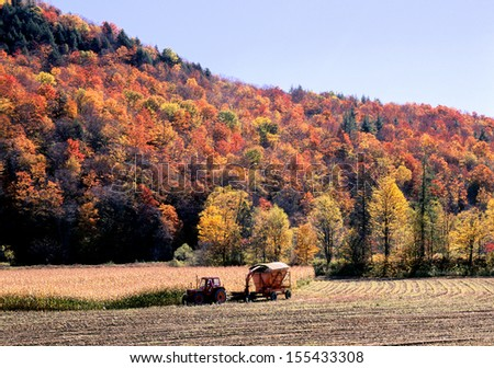 New England Autumn Farming - stock photo
