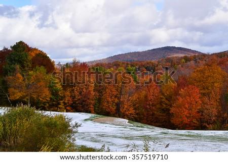New England Fall Foliage - stock photo